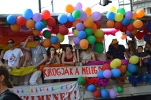 Participants in gay parade.
