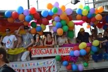 Participants in gay parade.