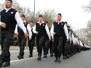 Secondary Symptom. Hungarian Guard march at the Budapest City Park in 2008.