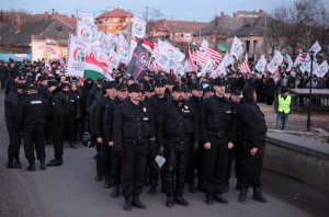 The For a Better Future Civic Guard in the village of Gyöngyöspata in 2011.