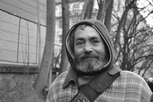 Budapest eleventh-district homeless resident Johnny [Jánoska].
