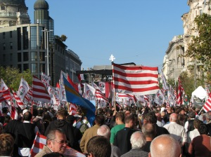 Jobbik rally on Deák Square