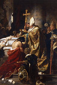 Baptism of Grand Prince Vajk.