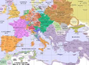 Europe in the year 1600.