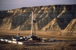 Fracking shale gas in North Dakota.
