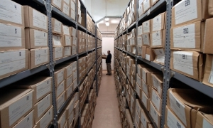 Communist-era domestic-intelligence files at the State Security Services Archives in Budapest.