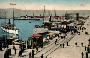 The Adriatic Sea port of Fiume.