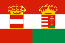 Civil ensign of the Austro-Hungarian Monarchy.