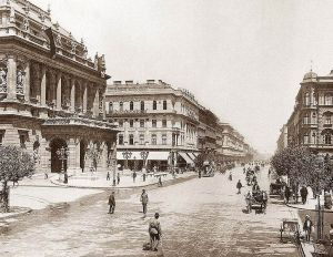 Andrássy Avenue in Budapest in 1896.