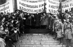 Prime Minster Károlyi proclaims the establishment of the Hungarian republic.