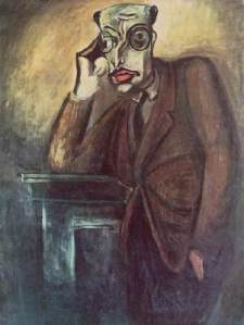 Hungarian modernist painter Bertalan Pór's 1930 painting of Károlyi Mihály.