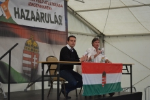 Jobbik President Gábor Vona (left ) and National Assembly representative Sándor Pörzse.