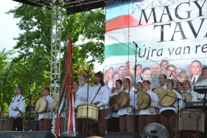 Ancient Hungarian drum ensemble.