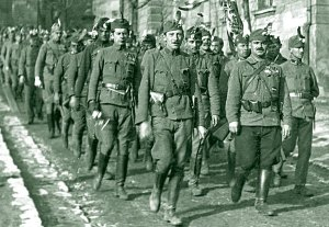 Unit of the National Army on the march.