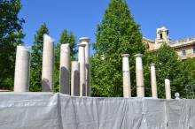 The memorial stands unfinished.