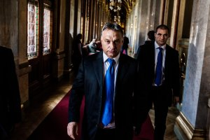 New York Times photo: Prime Minister Viktor Orbán at the Hungarian Parliament Building.