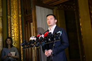 Fidesz caucus Chairman Antal Rogán announces the party's support for mandatory drug-testing.