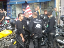 Gentile Bikers assemble on the 50th anniversary of the 1956 Hungarian Revolution (10/23/2006).