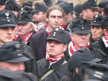 The Hungarian Guard commemorates the anniversary of National Army leader Miklós Horthy's arrival to Budapest in 1919 (10/22/2009).