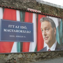 """The Time Has Come Hungary."" Fidesz campaign sign for 2010 National Assembly Elections."