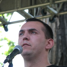 64 Counties Youth Movement Vice President György Zagyva speaks at annual Treaty of Trianon protest (6/13/2009).
