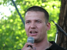 64 Counties Youth Movement President Lászó Toroczkai speaks at annual Treaty of Trianon protest (6/13/2009).