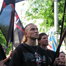 Members of the 64 Counties Youth Movement at the organization's annual protest of the 1920 Treaty of Trianon (6/13/2009).