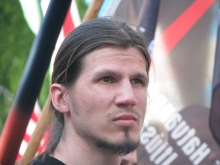 Member of the 64 Counties Youth Movement at the organization's annual protest of the 1920 Treaty of Trianon (6/13/2009).