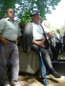 Participants at ceremony marking anniversary of the death of longtime Hungarian Socialist Workers' Party General Secretary János Kádár (7/7/2007).