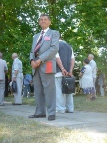 Participant at ceremony marking anniversary of the death of longtime Hungarian Socialist Workers' Party General Secretary János Kádár (7/7/2007).