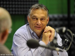 Prime Minister Orbán speaking on Kossuth Rádio on July 26, 2013.
