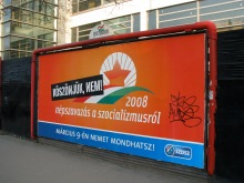 """No Thank You! 2008 Referendum on Socialism."" Liberal-party sign for 2008 national referendum (2/12/2008)."