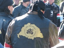 Gentile Biker with Greater Hungary on the back of his vest (3/15/2008).
