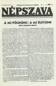 Front page of the Christmas 1941 issue of the Hungarian Social Democratic Party newspaper Népszava.