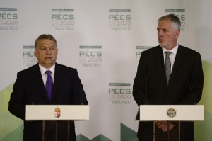 Prime Minister Viktor Orbán (right):
