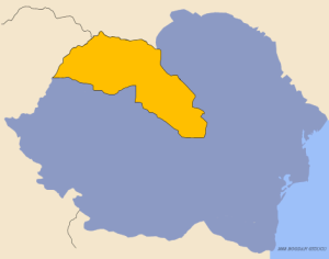 Yellow = territory returned to Hungary via the Second Vienna Award.