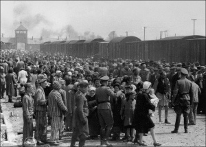 Selection of newly arrived Hungarian Jews at Auschwitz.