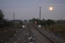 Dawn at the Hungarian-Serbian border.