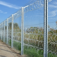 Fence at the Hungarian-Serbian border.