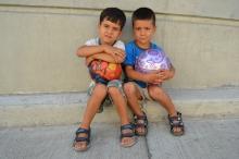 Refugee boys.