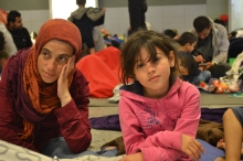 Refugee mother and daughter.