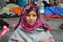 Refugee girl.