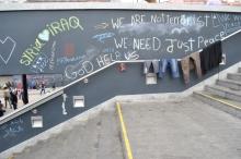 Graffiti in the transit zone.