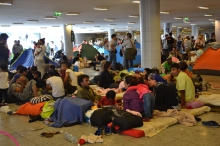 Refugees in the transit zone.