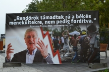 """Democratic Coalition President Ferenc Gyurcsány: """"The police attacked peaceful refugees and not the reverse."""""""