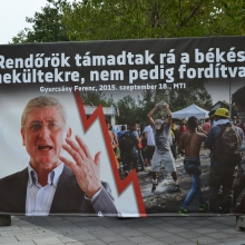 "Democratic Coalition President Ferenc Gyurcsány: ""The police attacked peaceful refugees and not the reverse."""