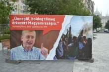 """Democratic Coalition President Ferenc Gyurcsány: """"A happy, festive crowd has arrived to Hungary."""""""