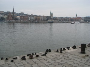 Shoes Along the Danube memorial to Jews executed along the river in Budapest in 1944 and 1945.
