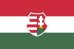 Flag of the Second Hungarian Republic.