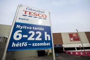 Tesco grocery store in Budapest closed on Sunday (photo: MTI).